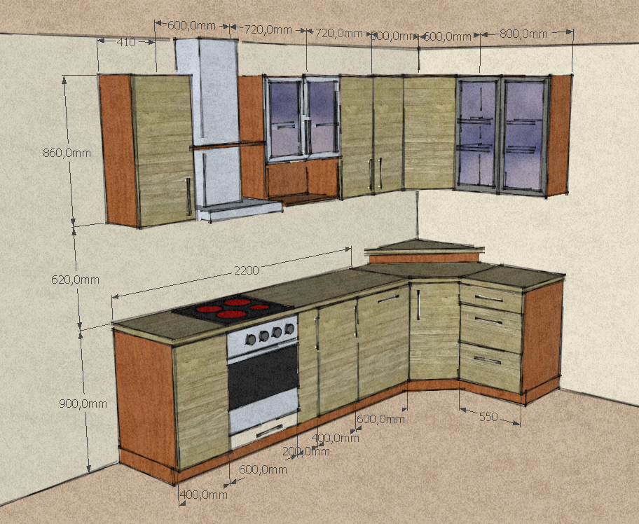 sketch kitchen design bomizer sketchup extension warehouse 2288